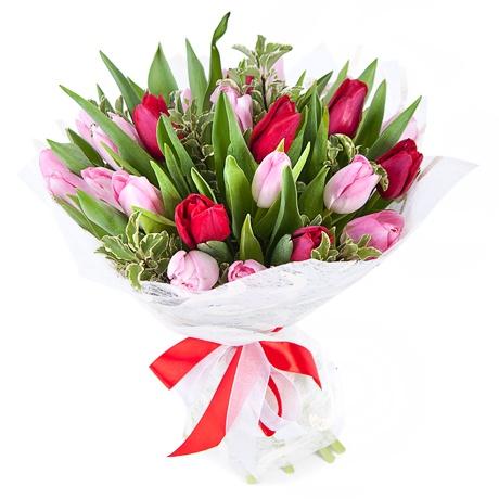 Букеты из тюльпанов